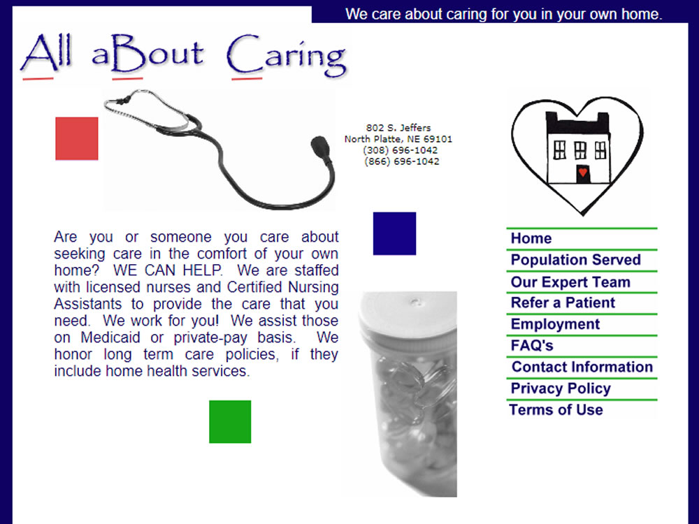 All About Caring - Website
