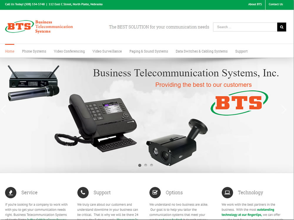 Business Telecommunication Systems - Website
