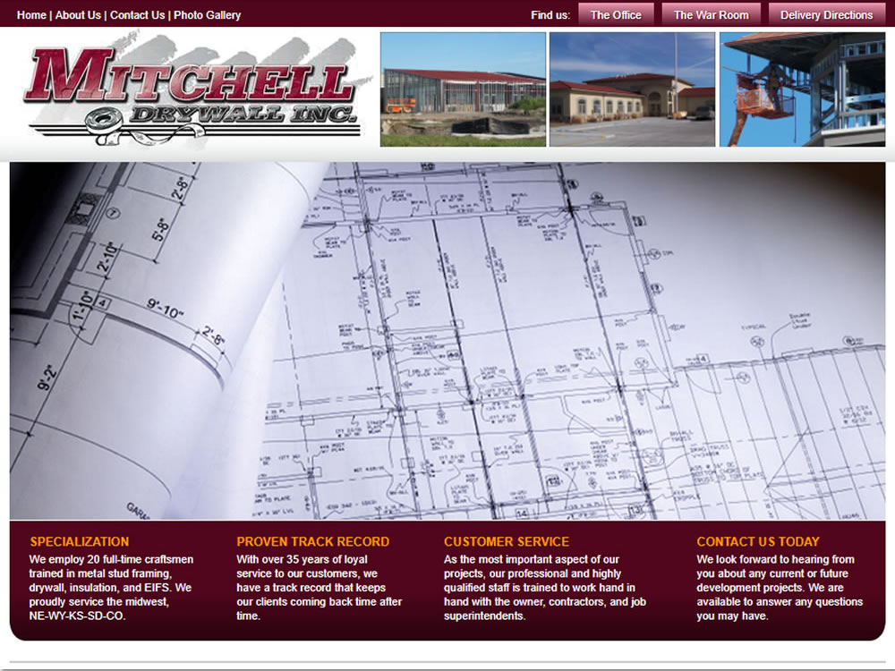 Mitchell Drywall Website