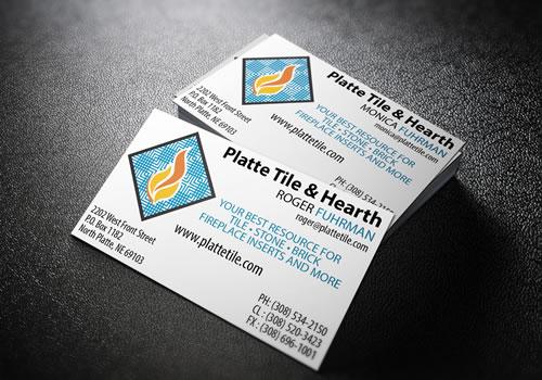 Platte Tile Business Cards