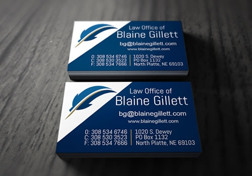 Business Cards - Blaine Gillett